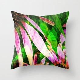 Medicinal Purple Flower Throw Pillow