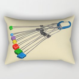 Rock Climbing Wires Rectangular Pillow