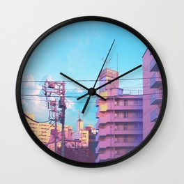 Pastel City Wall Clock