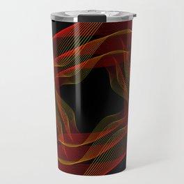 Fire background. The red-orange glow to go pattern background. Travel Mug