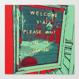 Welcome Y'all - Vector Design Image Canvas Print
