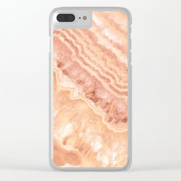 Champagne onyx marble Clear iPhone Case