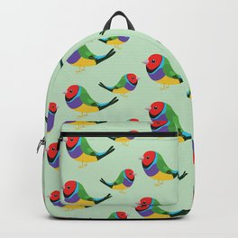 Cute gouldian finch Backpack