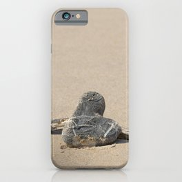 Stone Heart On The Beach iPhone Case