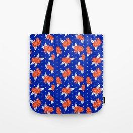 Florida fan gators university orange and blue team spirit football college sports florals Tote Bag