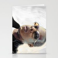 jay z Stationery Cards featuring Jay-Z by Thomas Bryant