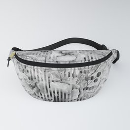 Shades of grey Floral Abstract Fanny Pack