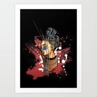 Lyah Black Art Print