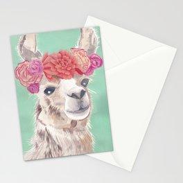 Flower Crown Llama Stationery Cards