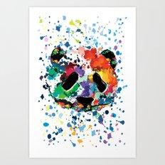 Splash panda Art Print