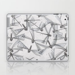 watercolor dragonflies silver Laptop & iPad Skin