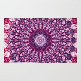 Pink and violet mandala Rug