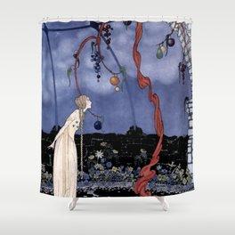 """Rosalie's Tree"" by Fairy Artist Virginia Sterrett Shower Curtain"