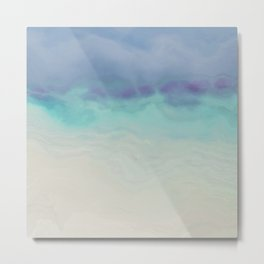 Painted Ocean Matble texture Metal Print