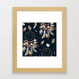 Boho watercolor dreamcatchers Framed Art Print