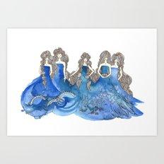 Salt Sisters Art Print