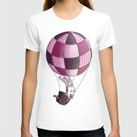 baloon T-shirts featuring Rabbit on pink baloon by My moony mom
