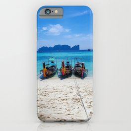 Island Hopping on Longtails iPhone Case