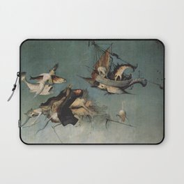 Hieronymus Bosch flying ships and creatures Laptop Sleeve