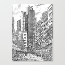Hong Kong. China. central the mood tower Canvas Print