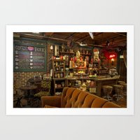 central perk Art Prints featuring The Central Perk Bar by voxavila