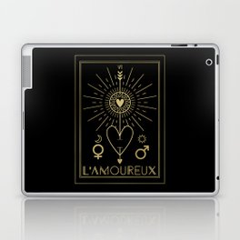 L'Amoureux or The Lovers Tarot Gold Laptop & iPad Skin