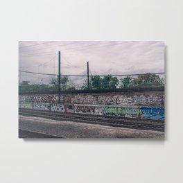 On the tracks. Metal Print
