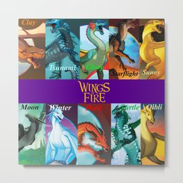 Wings of fire dragon Metal Print
