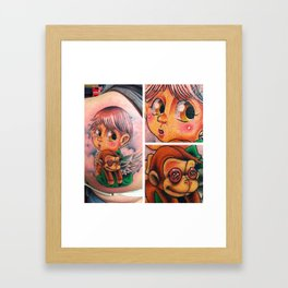 lost kid Framed Art Print