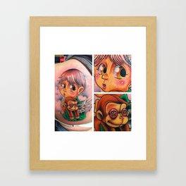 lost kid Framed Art Print