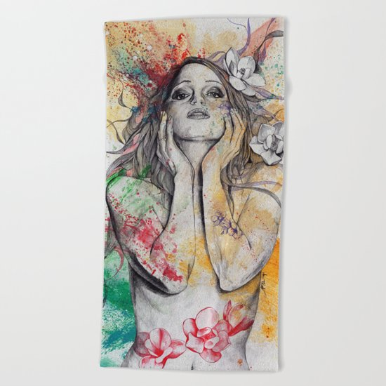 The Withering Spring Beach Towel