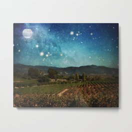 Starlit Vineyard II Metal Print