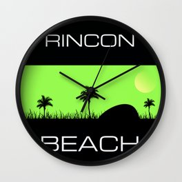 Rincon Beach Wall Clock