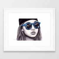 coachella Framed Art Prints featuring Coachella  by Bella Harris