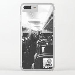 Flight To Michigan Clear iPhone Case