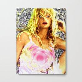 "Farrah Fawcett Digital Art ""Vanilla Swirl""  Metal Print"