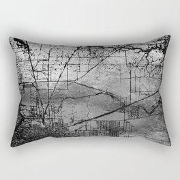 Old Metal Map Rectangular Pillow