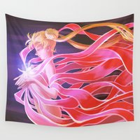 sailor moon Wall Tapestries featuring Sailor Moon by Cami Sanders