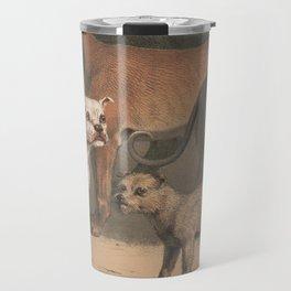 Vintage Dog Breeds Illustration (1874) Travel Mug