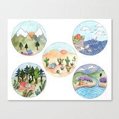Campsite Selection Canvas Print