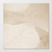 sand Canvas Prints featuring sand by  Agostino Lo Coco