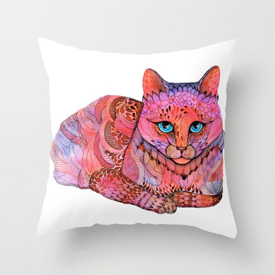 SUNSET CAT Throw Pillow