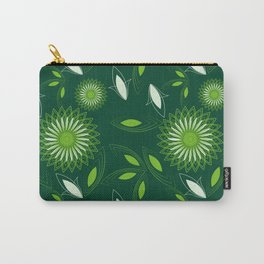 abstract seamless floral pattern exotic shapes Carry-All Pouch
