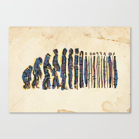 Barcode Evolution Canvas Print