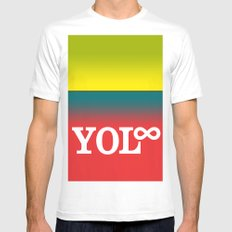You Only Live Forever—Part III Mens Fitted Tee White MEDIUM