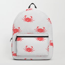 Seamless pattern with red crabs Backpack