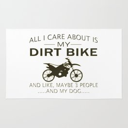 MY DIRTBIKE and DOGs Rug