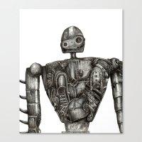 laputa Canvas Prints featuring Laputa Robot by Leanne Engel