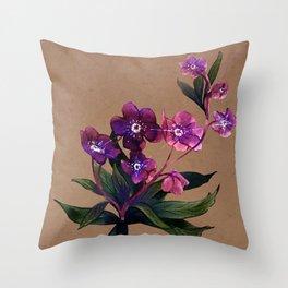Helleborus lyrae Throw Pillow