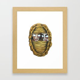 rapunzel is blind Framed Art Print